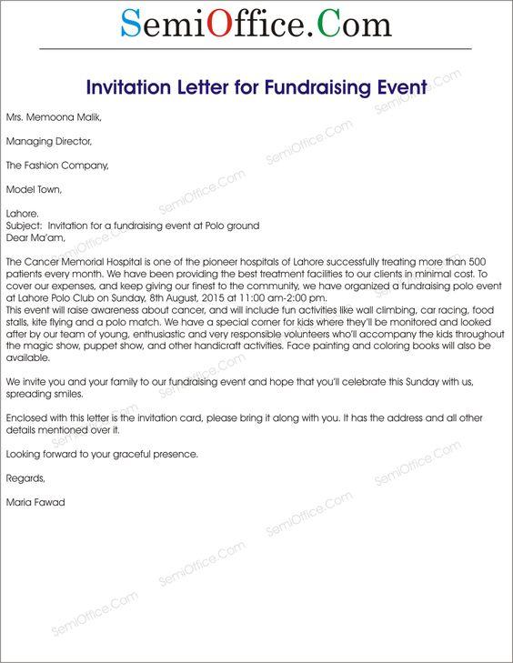 Fundraising event invitation letter sample sponsorship documents fundraising event invitation letter sample sponsorship documents pdf word home design idea pinterest interiors stopboris Choice Image