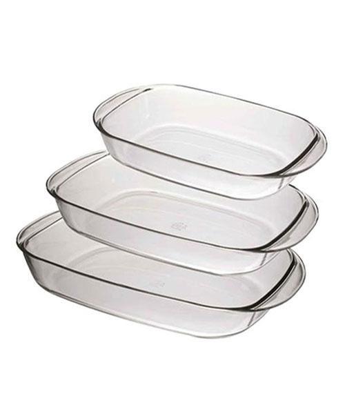 صواني بيركس مستطيلة 3 قطع Tableware Bowl Kitchen