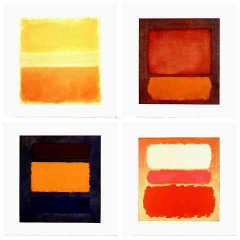 Mark Rothko - Serie 4 Blatt (17021-17024) - jetzt bestellen auf kunst-fuer-alle.de