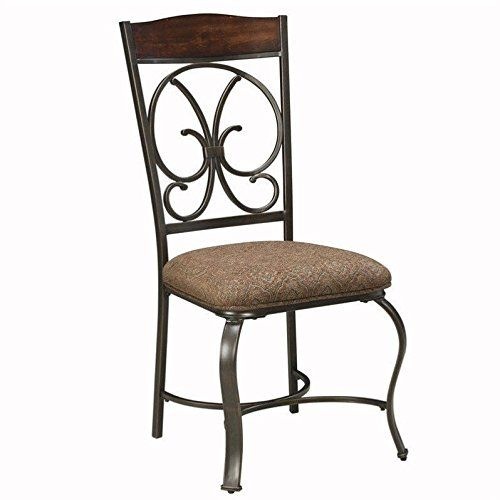 Ashley Furniture Glambrey Upholstered Dining Side Chair In Brown
