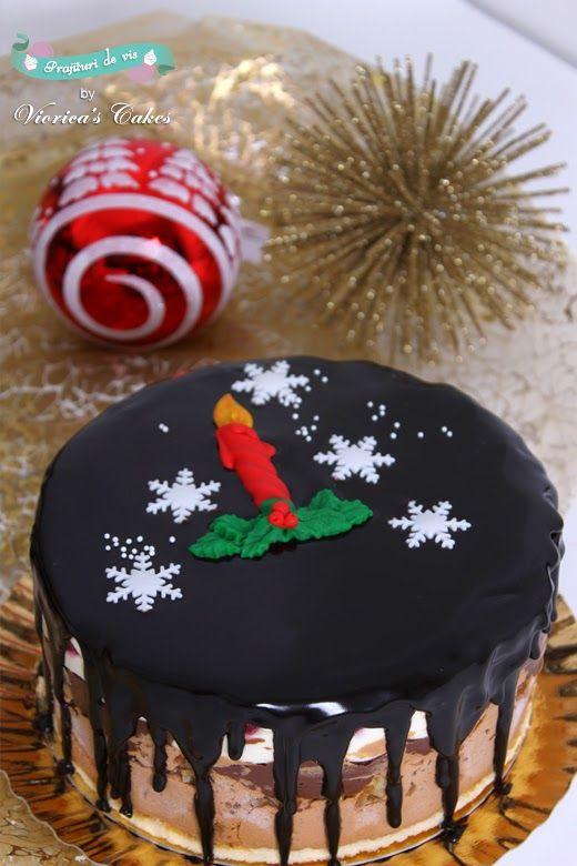 Tortulete festive , glazurate cu ciocolata