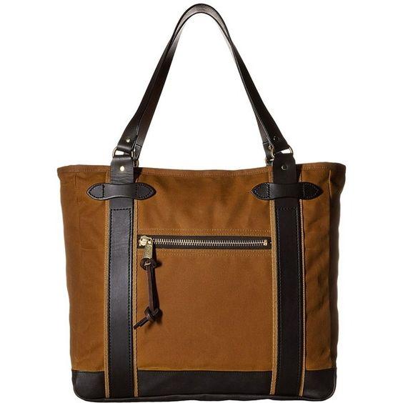 Filson Meridian Tote (Tan) Tote Handbags (22.870 RUB) ❤ liked on Polyvore featuring bags, handbags, tote bags, zippered tote bag, tan tote bag, brown tote purse, zip tote bag and tote purses