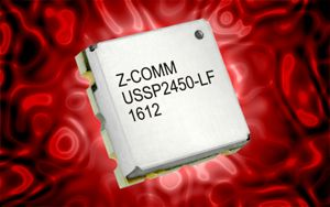 Z-Communications' ultra-miniature USSP2450-LF generates frequencies between 2400 to 2485 MHz within a control voltage range of 0.5 to 2.5 V
