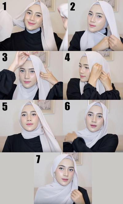 Tutorial Hijab Pashmina Simple Ke Kantor Gaya Hijab Kursus