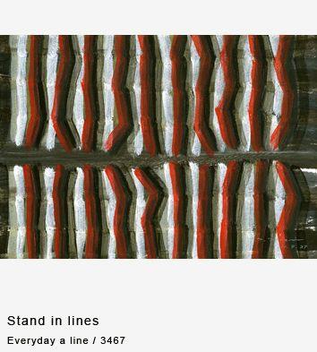 Everyday a line / 3467 - Everyday a line - collection / Taro Tomori
