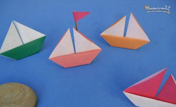 Los Barcos De Papel Origami Son Una Manualidad Para Niños Fácil Que Hasta Los Más Chiquitos Pueden Aprender Hoy Barcos De Papel Manualidades Barco Para Niños