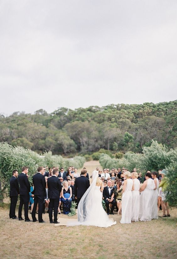 A perfect ceremony in an olive grove in the south west
