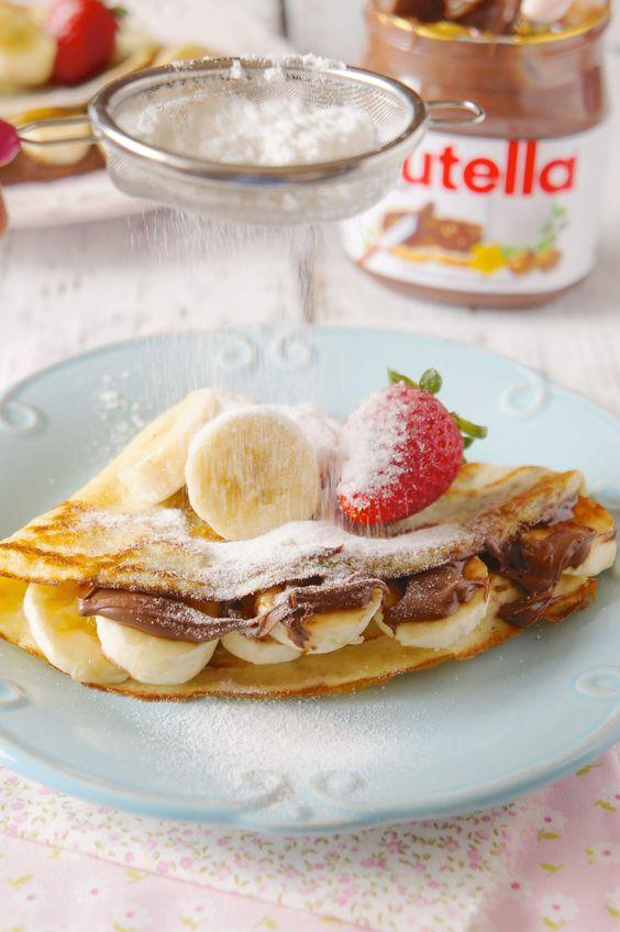 Crepe de banana com nutella | Flamboesa
