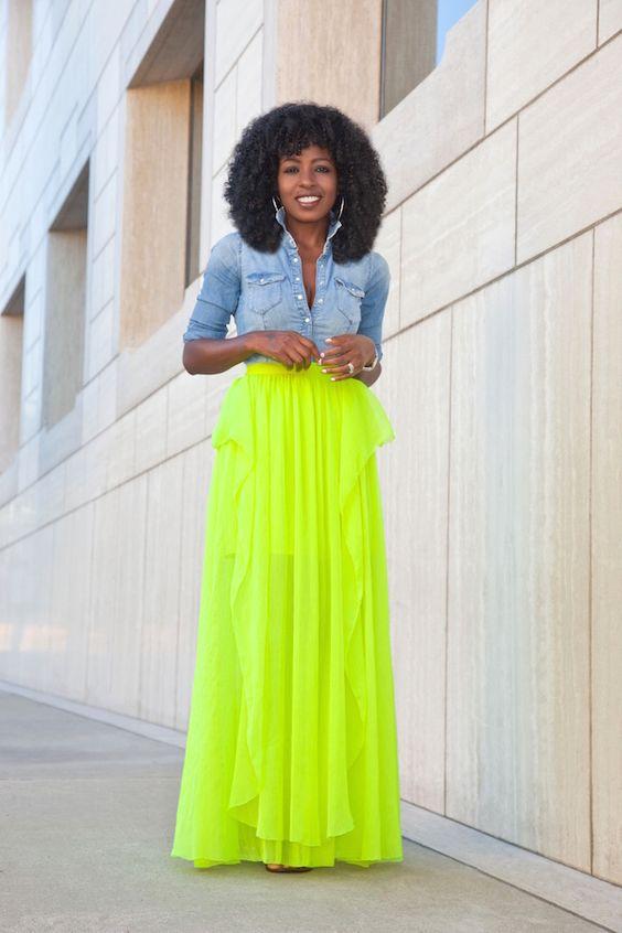 linda saia neon verde