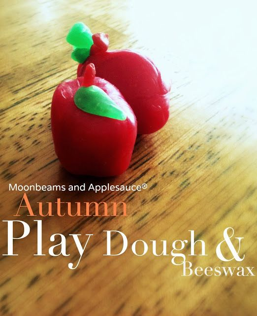 Moonbeams and Applesauce: Autumn Play Dough: Spice Cookie Recipe plus a Beeswax Modeling Guide.