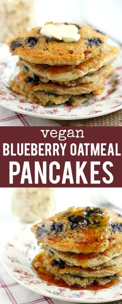 Blueberry oatmeal pancakes, Vegan blueberry and Blueberry oatmeal on ...