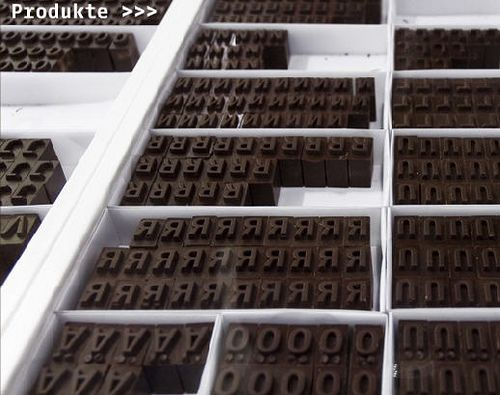 LETTERPRESS CHOCOLATES. Can you spell !mmmmU