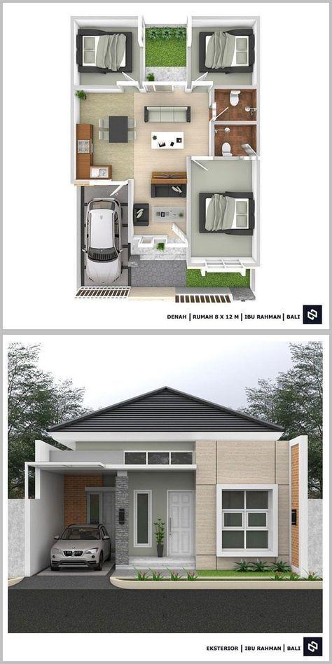 10 Denah Rumah Minimalis 3 Kamar Tidur 1 Lantai 2020 Beserta Keterangannya Dekor Rumah Desain Rumah Bungalow Denah Rumah House Blueprints