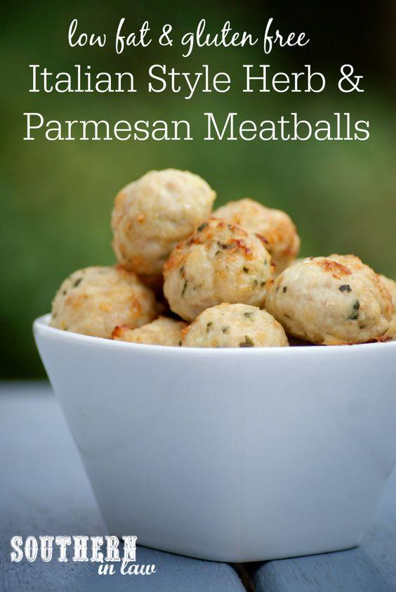 Italian Style Herb and Parmesan Baked Meatballs | Italian Style ...