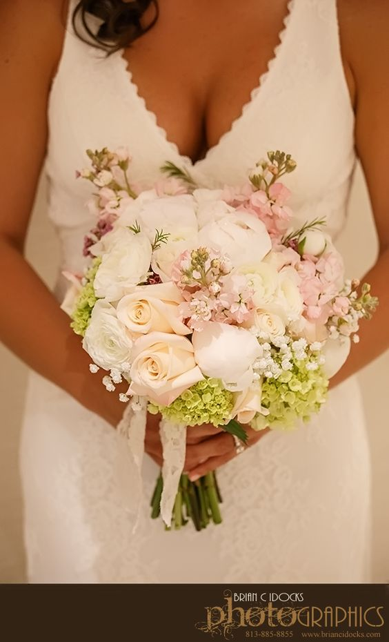 Hilton Clearwater Beach, Clearwater, Florida, Beach Wedding, Bride, Bridal Bouquet, White and Blush, Iza's flowers, Inc.