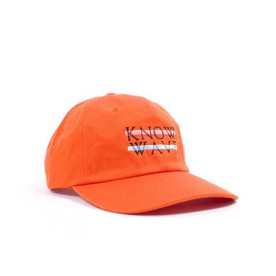 Fresh Know Wave 6 Panel Strapback in vibrant orange. Made in the good ol' USA.