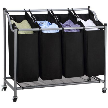 Home Laundry Sorter Storage Cart Laundry Room Organization