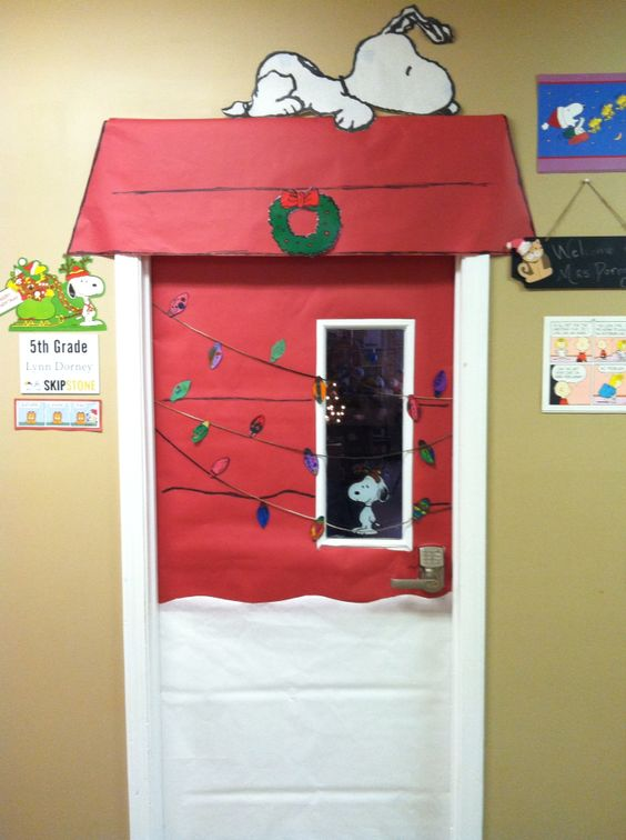 My classroom door- Christmas 2014