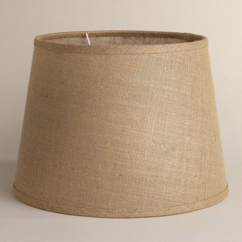 natural burlap table lamp shade table lamps burlap and. Black Bedroom Furniture Sets. Home Design Ideas
