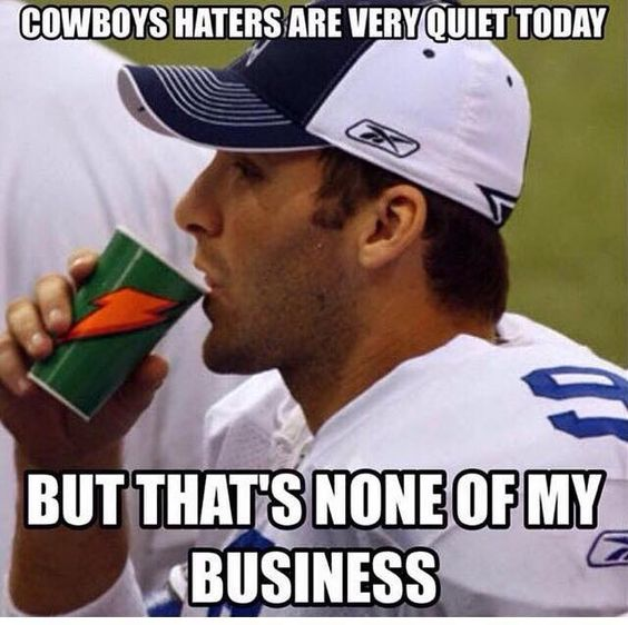 Dallas Cowboys haters But that's none of my business