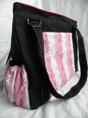 READY TO SHIP- PINK SCROLLS - The Expedient Weekender or Diaper bag