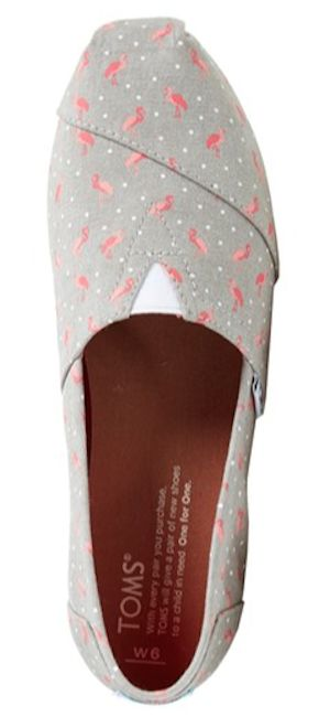 slip-on flamingo print Toms