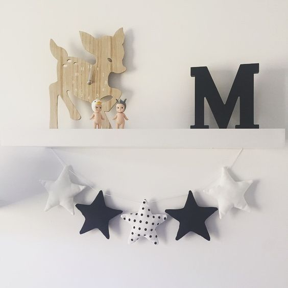 For all you monochrome lovers out there, this ones for you! Our Star Garland has went totes cool with a monochrome makeover! #littlebambinobear #wabusinessdirectory #stargarland #monochrome #nurserydecor #kidsdecor #australianmade