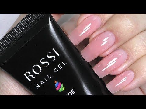 Polygel Nails Using Dual Forms On Myself Tutorial Rossi Kit Review Youtube Polygel Nails Hard Gel Nails Long Nail Designs