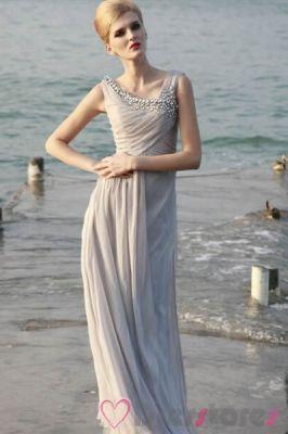 Grey-Beige Wrapped Evening Gown [EDS019] - $113.99 : Dresstores.com