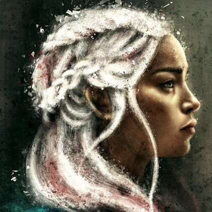Daenerys by @varshavijayan #ArtistoftheDay. Tshirts posters prints and more available at Cupick.com/v