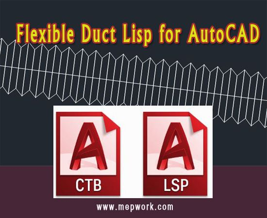 Download Flexible Duct Lisp for AutoCAD - Flex Duct lsp in