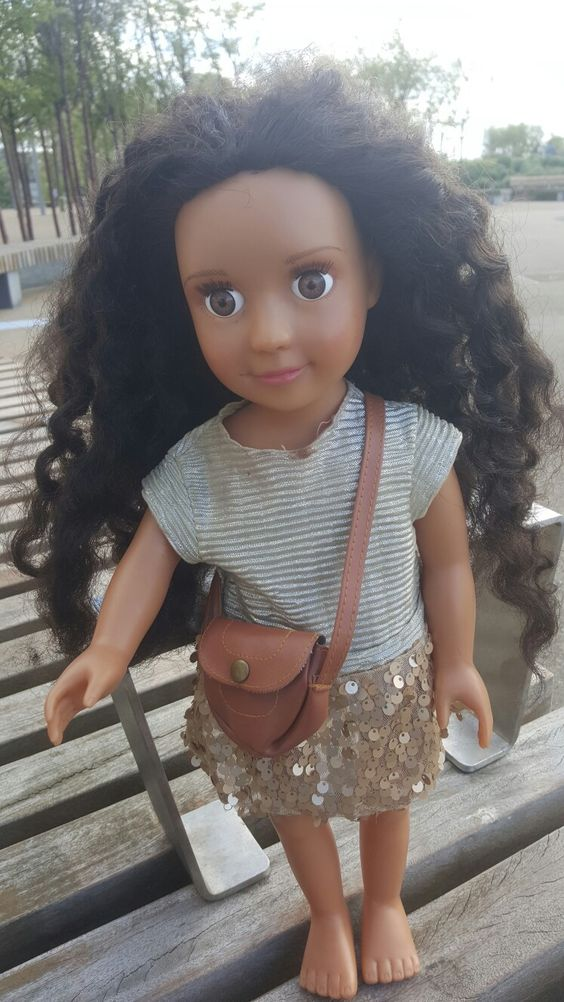 Africa American Girl NEW A-Girls doll Natural Hair OUTFIT Mixed Race 18in