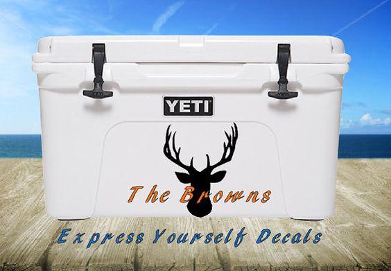 Deer Buck Heat Yeti Cooler Vinyl Decal by ExpresYourselfDecal