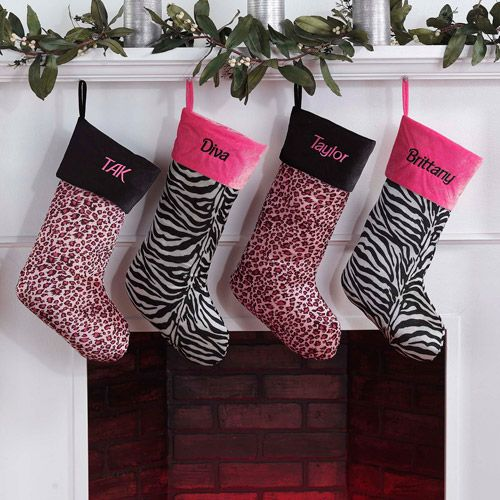 Pink Christmas Stockings Personalized