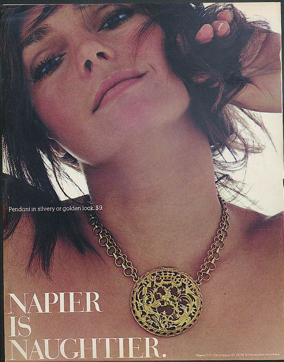 """Napier is Naughtier"" 1971 Advertisement"