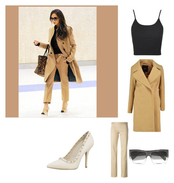 """Victoria Beckham, Look n 1"" by mathis-weks on Polyvore featuring mode, Victoria Beckham, Topshop, Dsquared2 et Gucci"