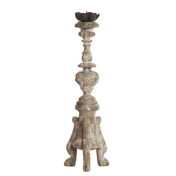 Thsi French Country decor piece - an Aidan Gray altar candlestick has a rustic patina-ed finish and beautiful scale. Perfect for a French inspired country interior! #ad #FrenchCountry #Frenchdecor #homedecor #candlestick #vintage #altar #religious #OldWorld #candle #accessory #homeideas