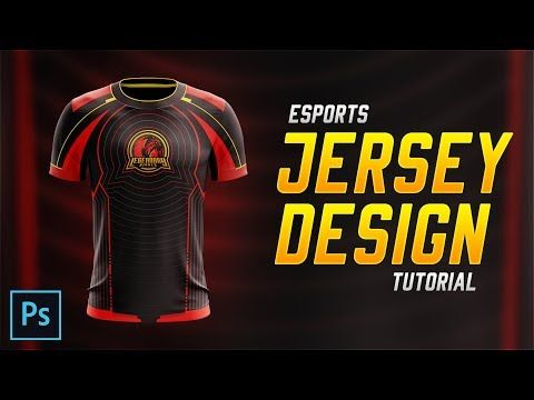 Download 2 Esports Jersey Design Tutorial In Photoshop Cc 2018 Youtube Jersey Design Design Tutorials Design Mockup Free