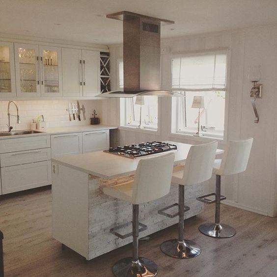 Nyvasket, puh !! #kjøkken#øy#barkrakk#vifte#matlaging#husets ...
