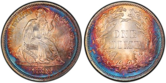 1883 Liberty Seated Dime PCGS MS66 CAC - Submitted by Ankur Jetley (http://pqcollectibles.com/) #CoinOfTheDay #COTD