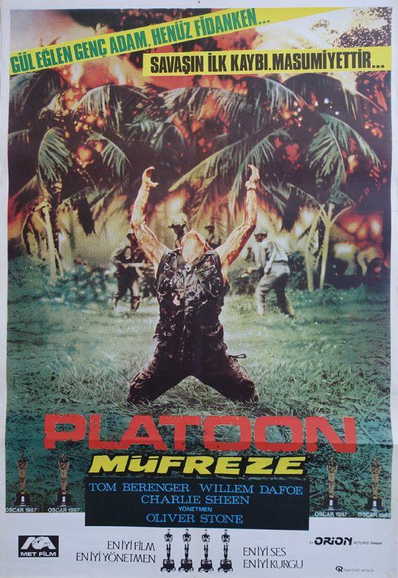 1987 Platoon Movie Poster  Original Vintage by OutofCopenhagen