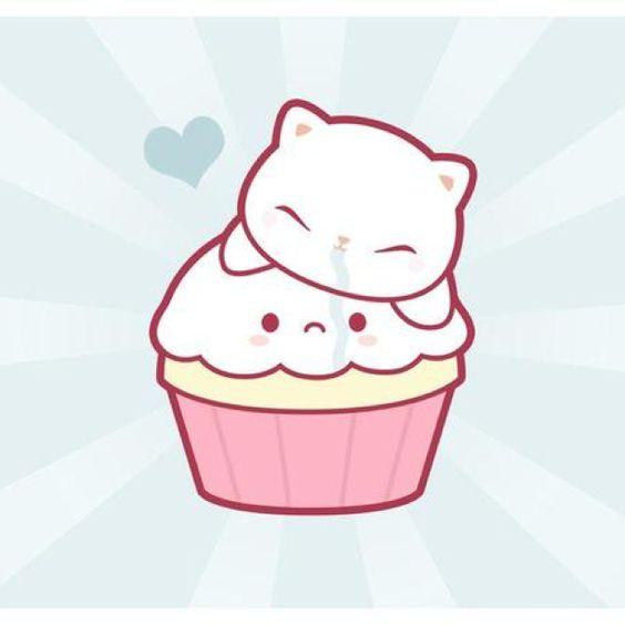 Kawaii Kitty cupcake! Adorable!