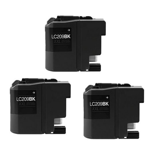 N Brother LC209 BK XXL Compatible Inkjet Cartridge For MFC-J5320DW MFC-J5620DW MFC-J5625DW MFC-J5720DW