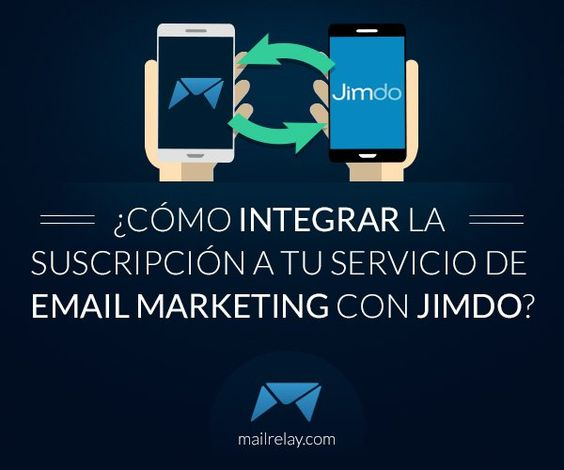¿Cómo integrar la suscripción a tu servicio de email marketing con Jimdo?