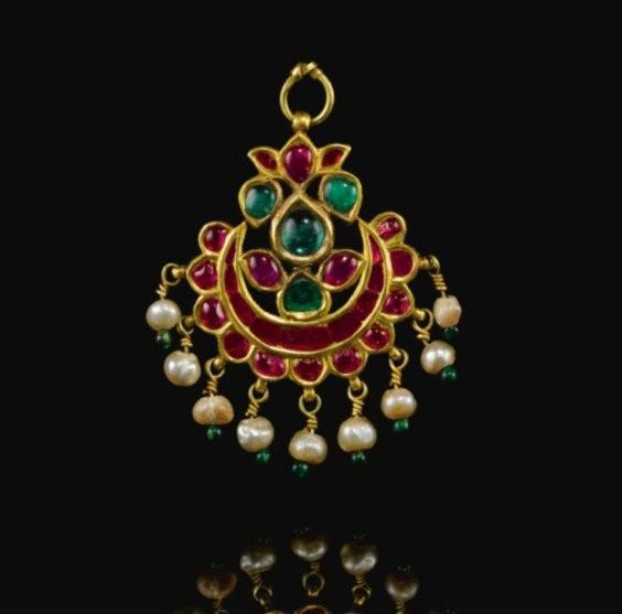 a gem set forehead ornament pendant tikka gudarat india circa