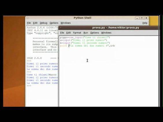 Tutorial 7 - Imparare Python - #ITA #Italiano #Linguaggio #Programma #Programmare #Programmazione #Python #Tutorial #Ubuntu #Video http://wp.me/p7r4xK-Kk