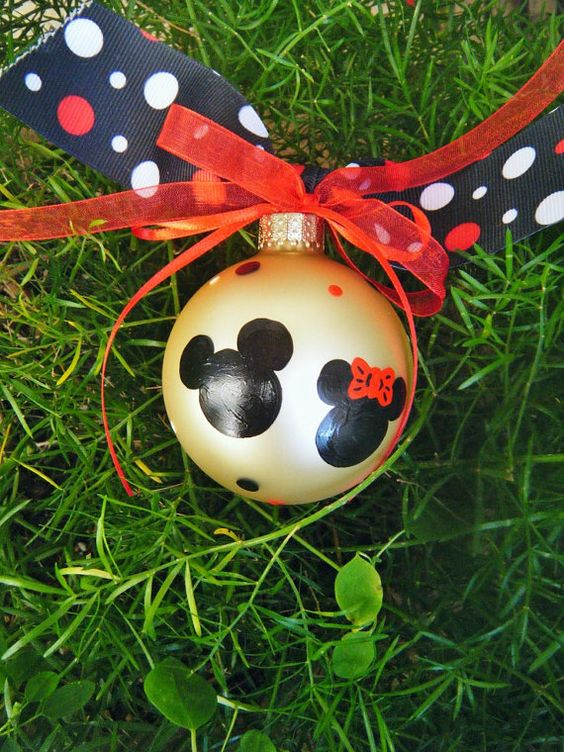 Mickey and Minnie Mouse Ornament - Couple's Gift ...