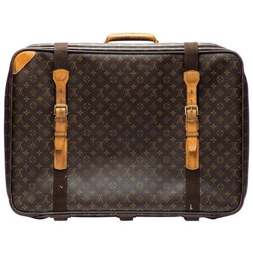 Brown Cloth Travel Bags Louis Vuitton Travel Bags Louis Vuitton Pre Owned Louis Vuitton
