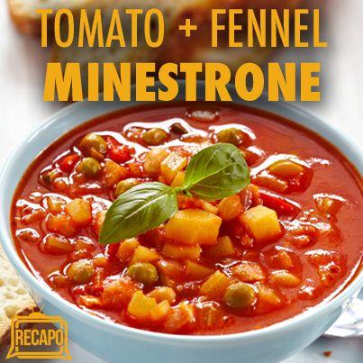 Rachael Ray: Tomato Fennel Minestrone Recipe with Parmigiano-Reggiano