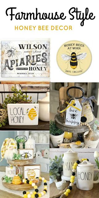 Farmhouse Style Honey Bee Decor Honey Bee Decor Bee Decor Diy Farmhouse Decor